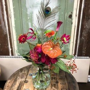 Flower power boeket bloemen