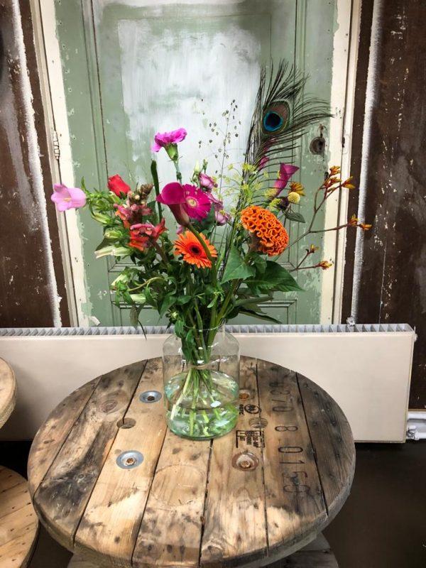 Opkikkertje boeket bloemen