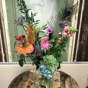 Feestje boeket bloemen