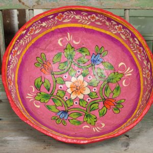 SChaal India roze bloemen