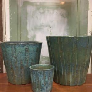 bloempotten blauw-groen